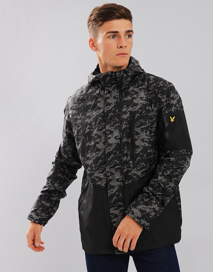 Lyle & Scott Casuals Jacket Black Print