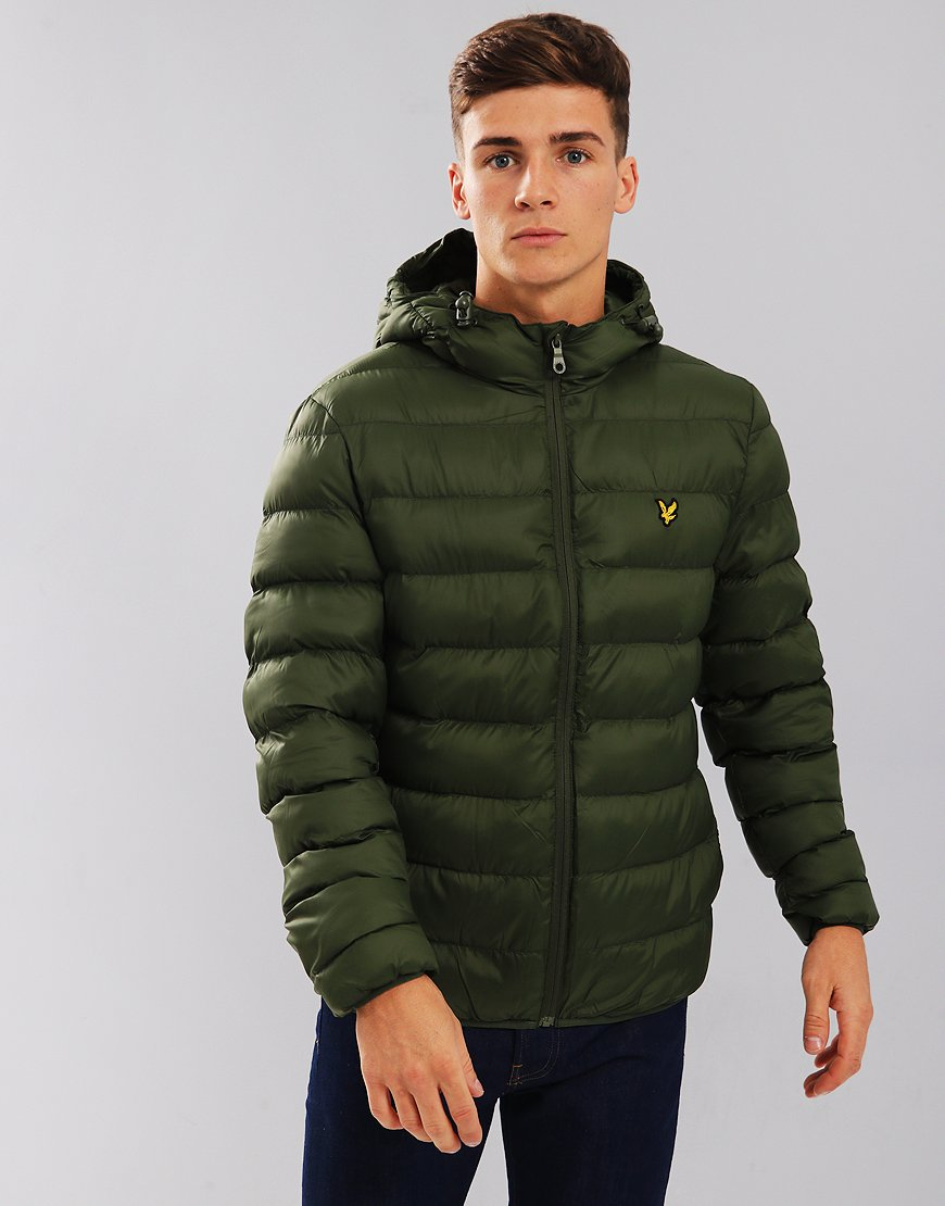 e4898a5616a6 Lyle & Scott Lightweight Puffer Jacket Woodland Green