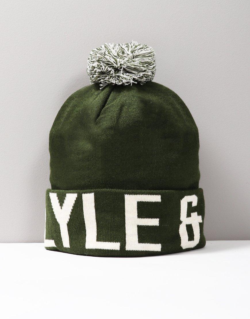 Lyle & Scott Junior Wording Hat Green