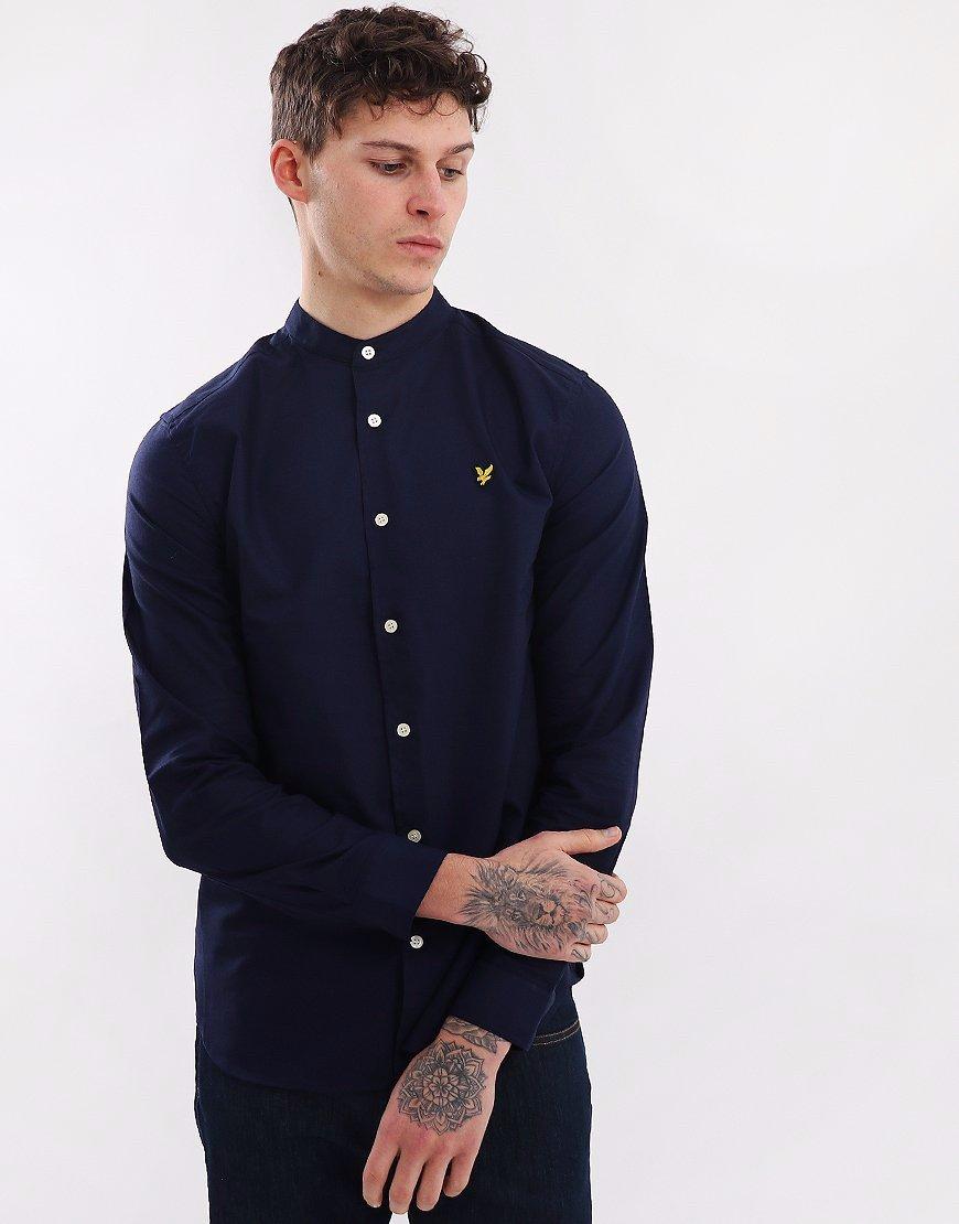 Lyle & Scott Stretch Garment Dyed Shirt Navy