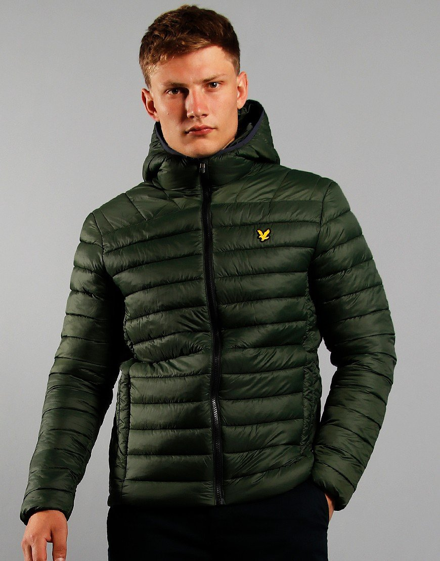 Lyle & Scott Lightweight Quilt Jacket Dark Sage