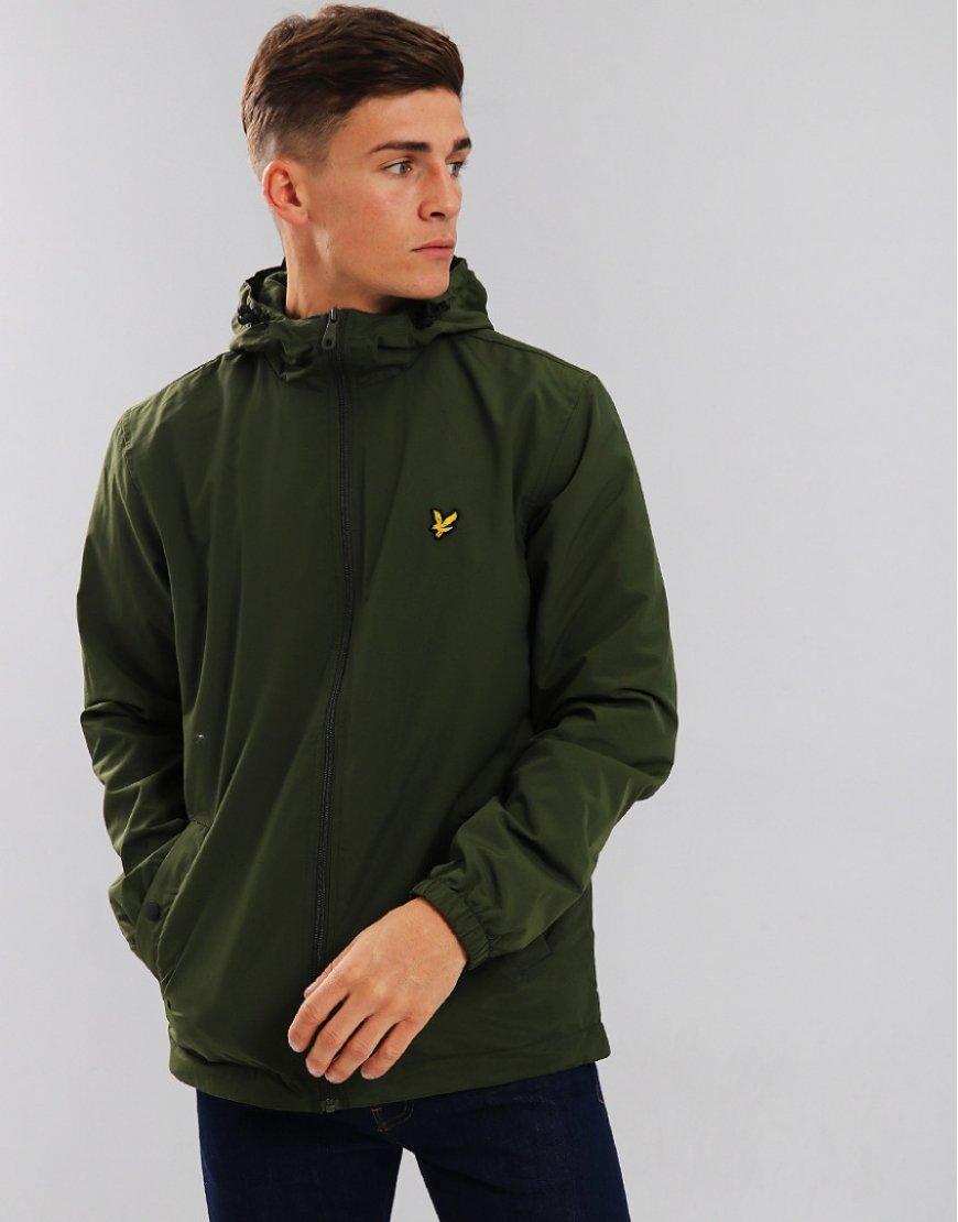 Lyle & Scott Micro Fleece Lined Jacket Woodland Green