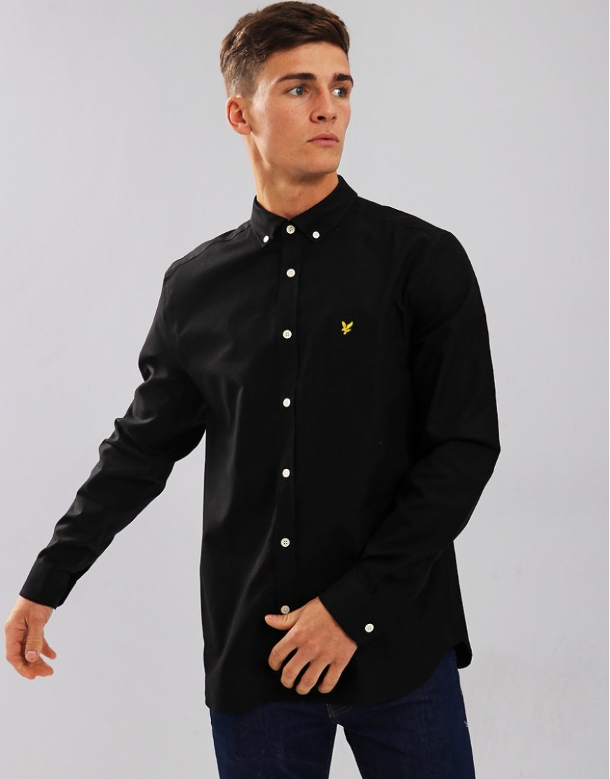 Lyle & Scott Long Sleeved Oxford Shirt True Black