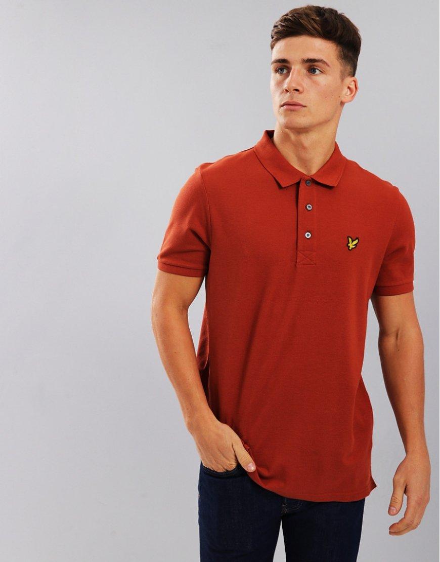 Lyle & Scott Plain Polo Shirt Brown Spice