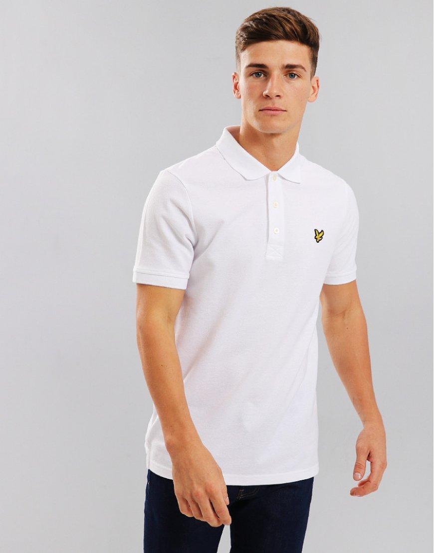 2952ddecb Lyle & Scott Plain Polo Shirt White - Terraces Menswear