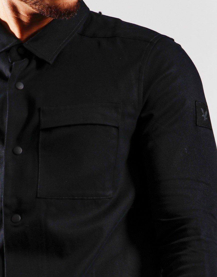 Lyle & Scott Cotton Twill Over Shirt Jet Black