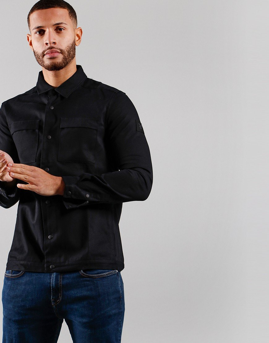Lyle & Scott Cotton Twill Over Shirt Jet Black