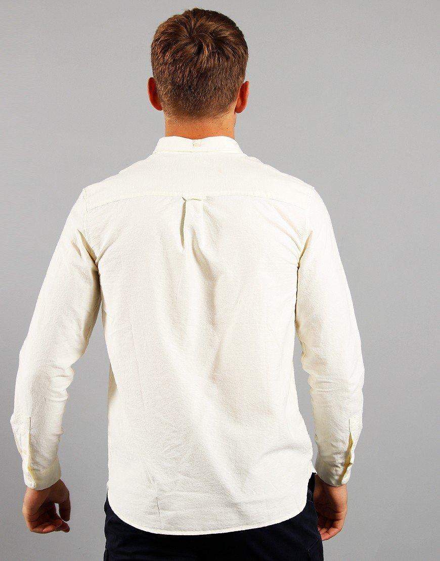 Lyle & Scott Long Sleeved Oxford Shirt Buttercream / White