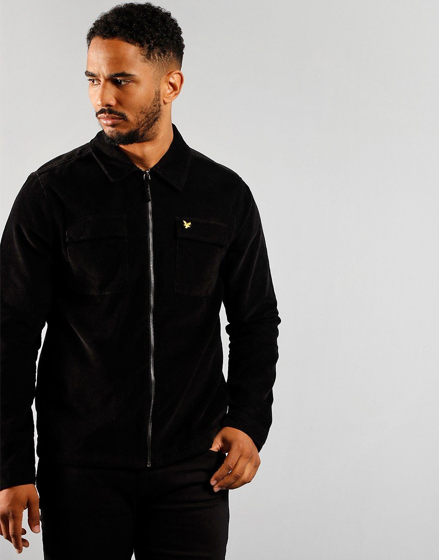 Lyle & Scott Cord Overshirt Jet Black
