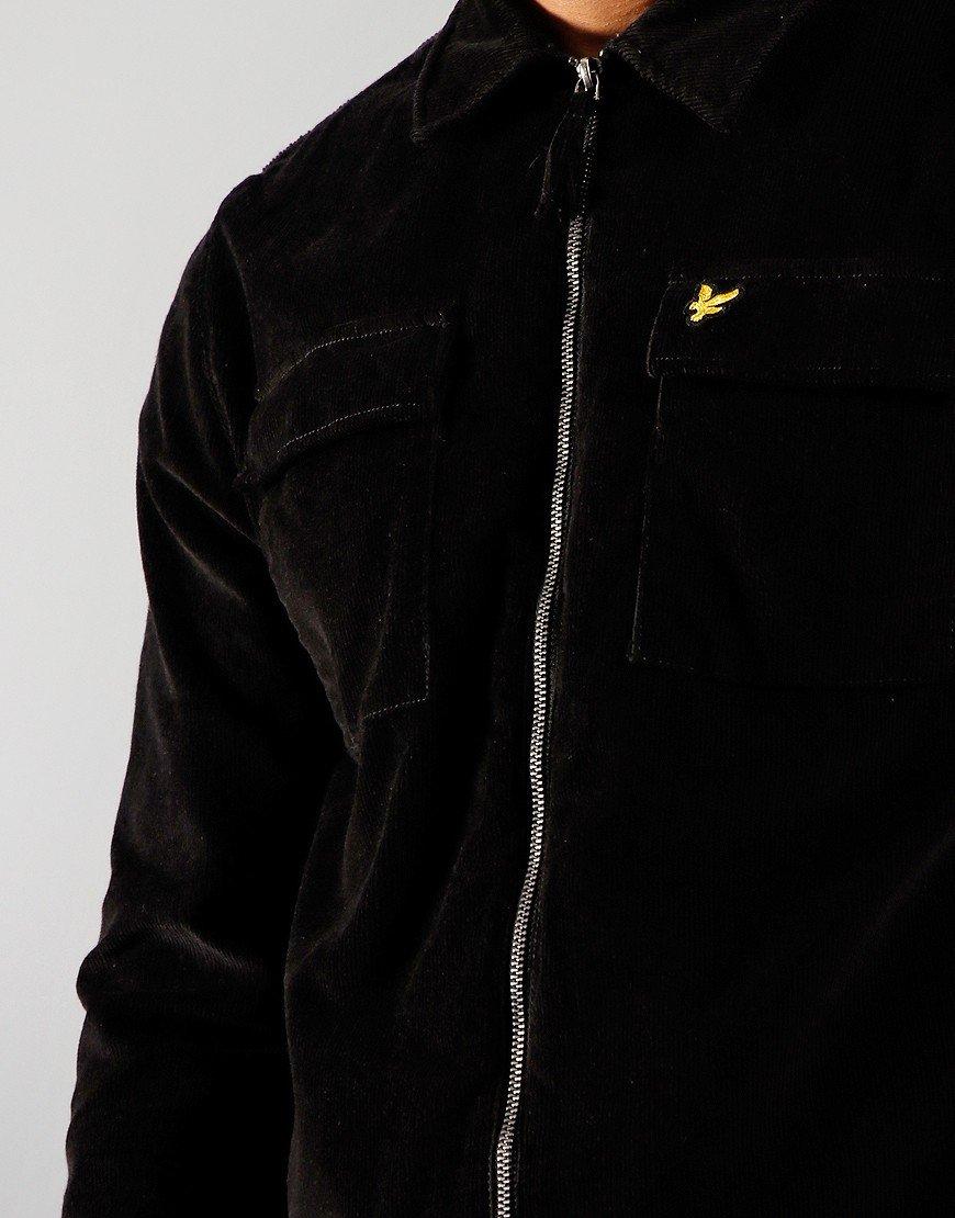 Lyle & Scott Cord Overshirt Jet Black