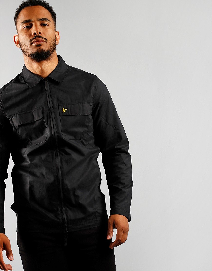 Lyle & Scott Cotton / Nylon Overshirt Jet Black