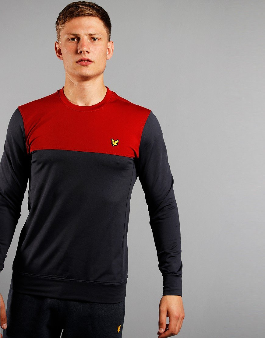 Lyle & Scott Crew Neck Tech Sweatshirt Graphite