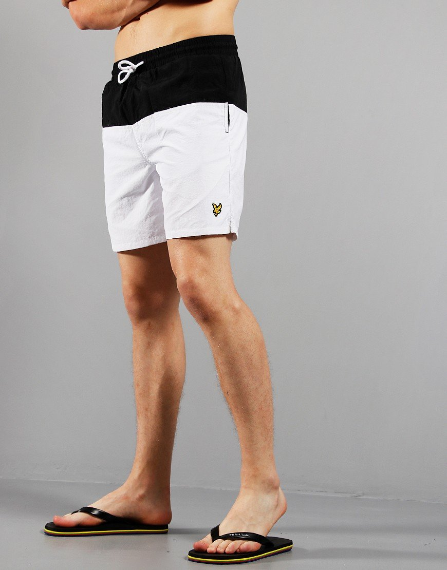 Lyle & Scott Half Swim Shorts Jet Black / White