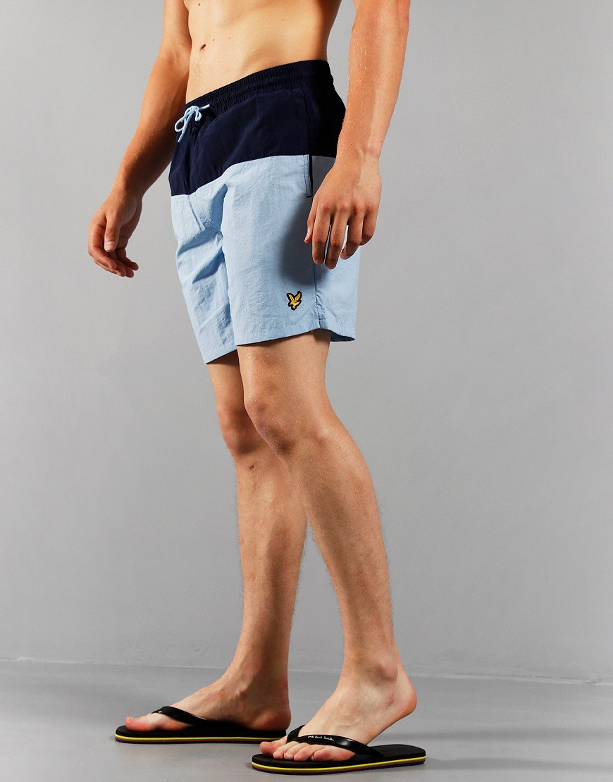 Lyle & Scott Half Swim Shorts Navy / Blue Pool