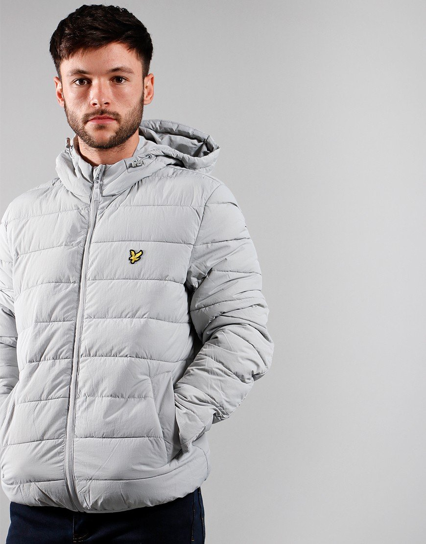 Lyle & Scott Light Weight Puffer Jacket Grey Fog
