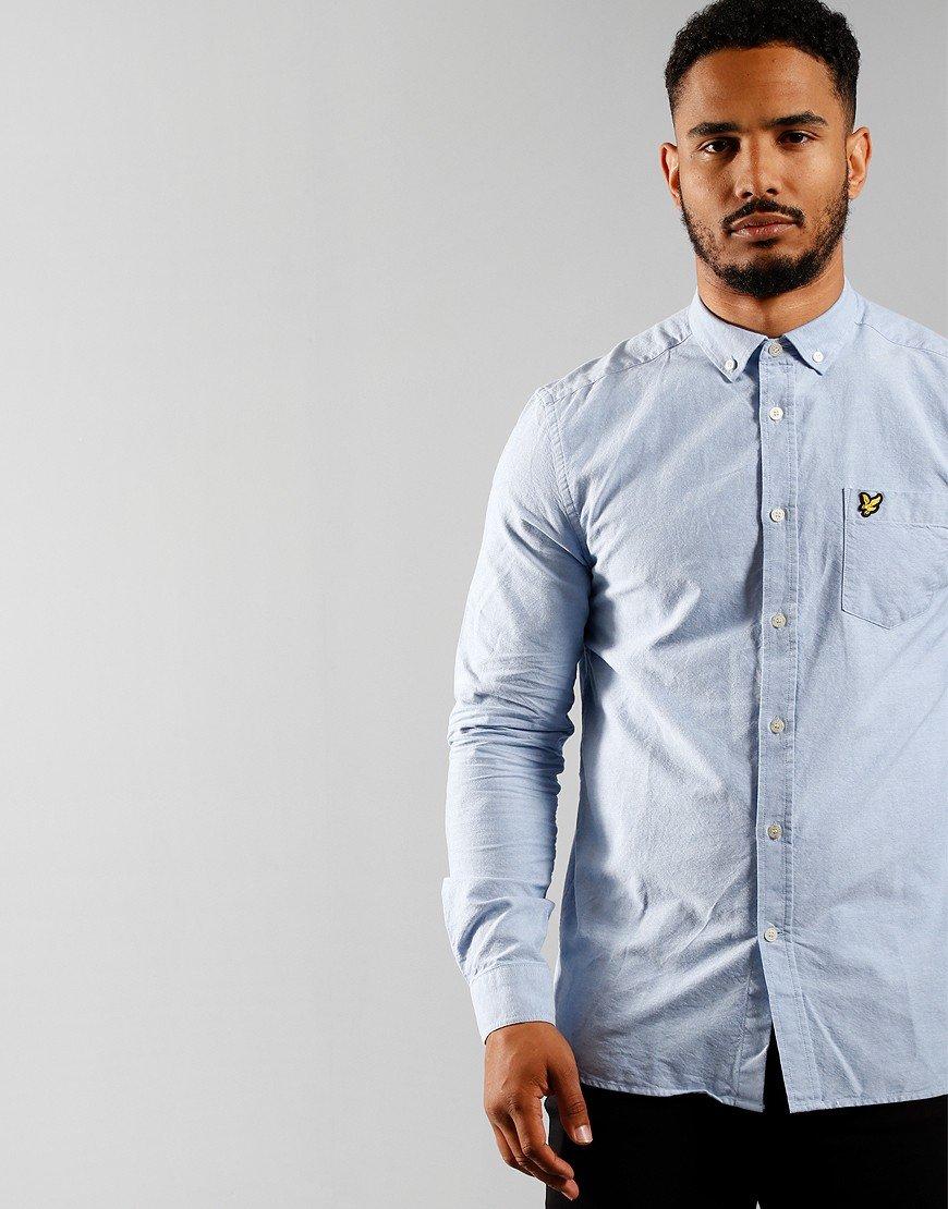 Lyle & Scott Light Weight Long Sleeve Oxford Shirt Riviera