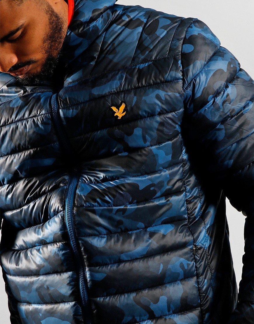 Lyle & Scott Light Weight Quilt Jacket Deep Fjord/True Black