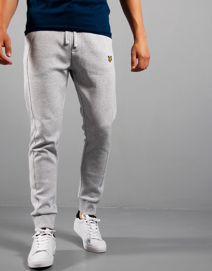 Lyle & Scott Piq Trackpant Light Grey Marl