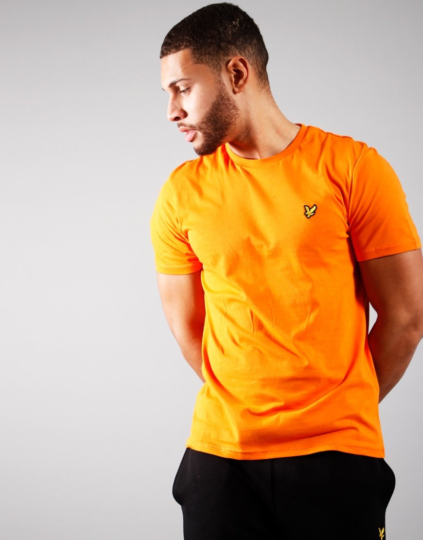 Lyle & Scott Plain T-Shirt Risk Orange
