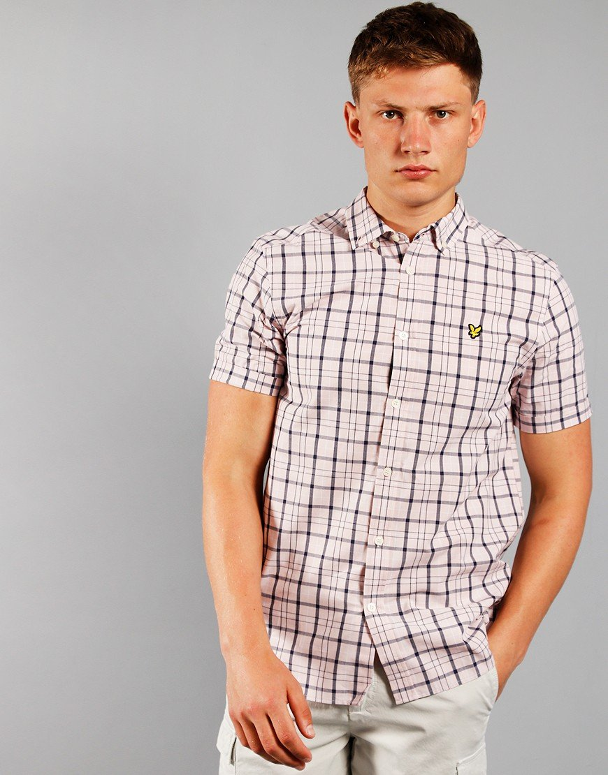 Lyle & Scott Short Sleeve Check Shirt Strawberry Cream