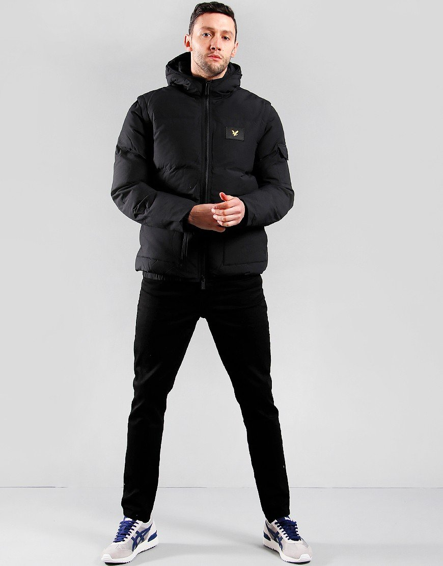 Jet Black All Sizes Details about  /Lyle /& Scott Casuals 2-in-1 Ripstop Puffer Jacket