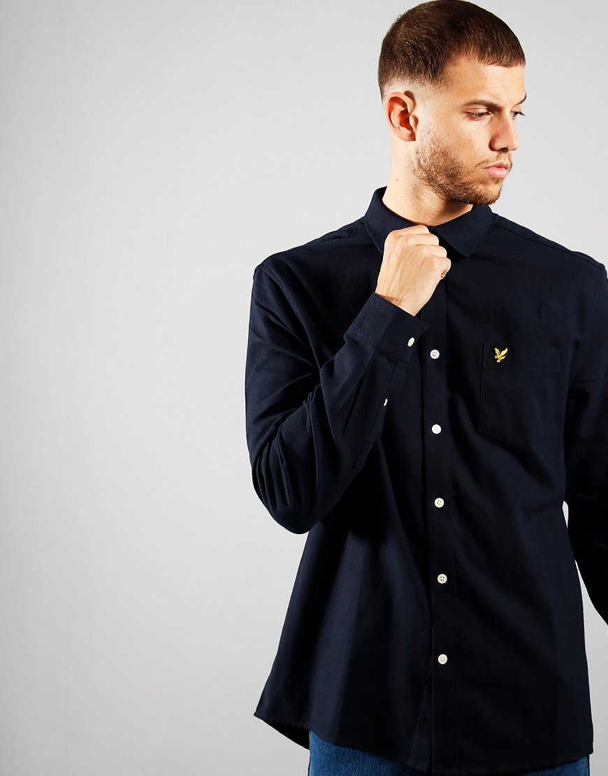 Lyle & Scott Brush Twill Shirt Dark Navy