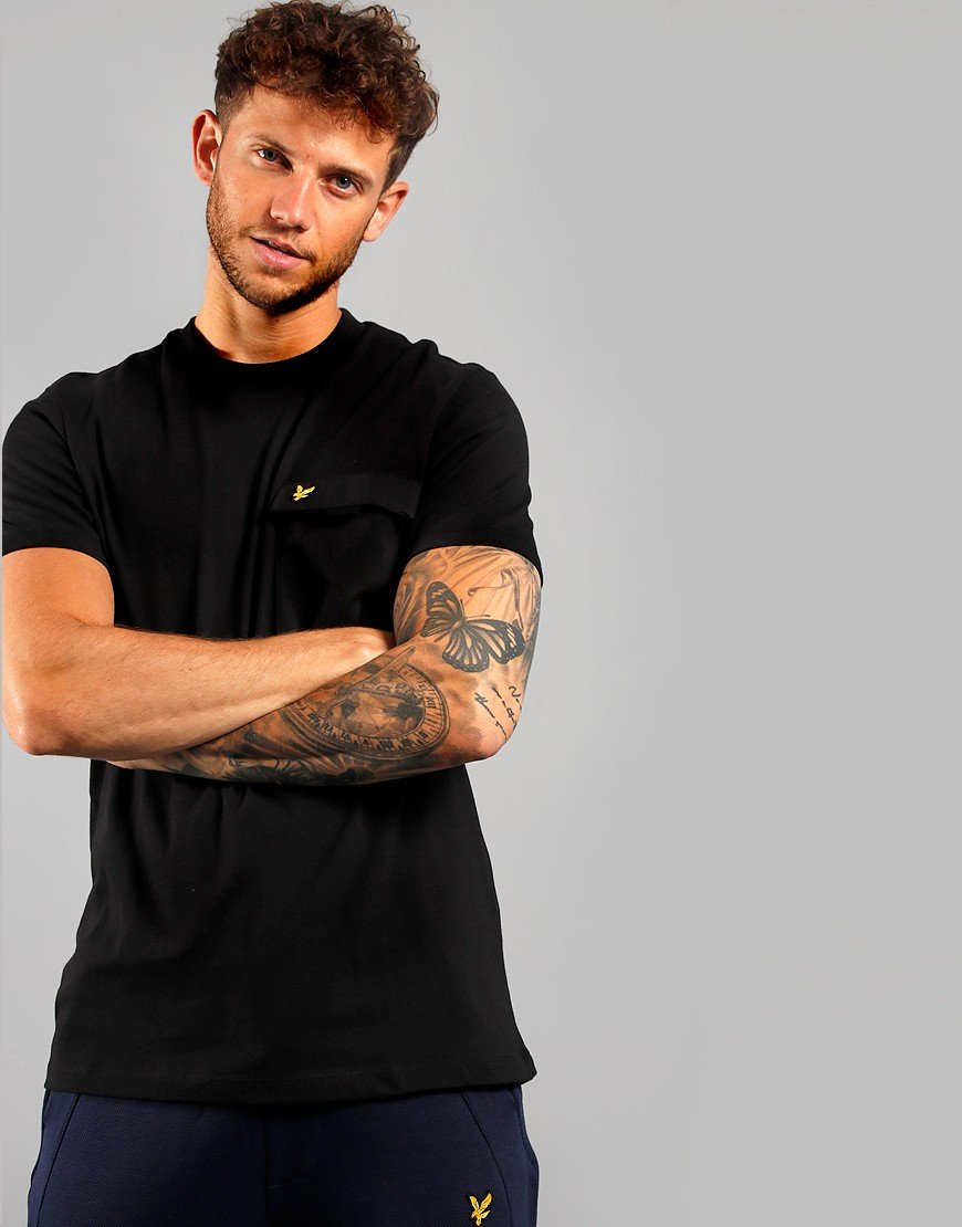 Lyle & Scott Chest Pocket T-Shirt Jet Black