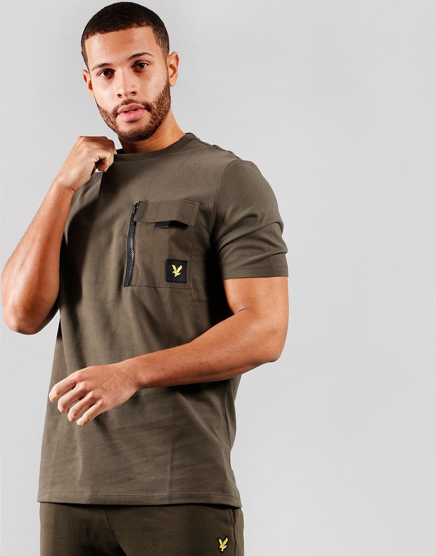 Lyle & Scott Chest Pocket T-Shirt Trek Green