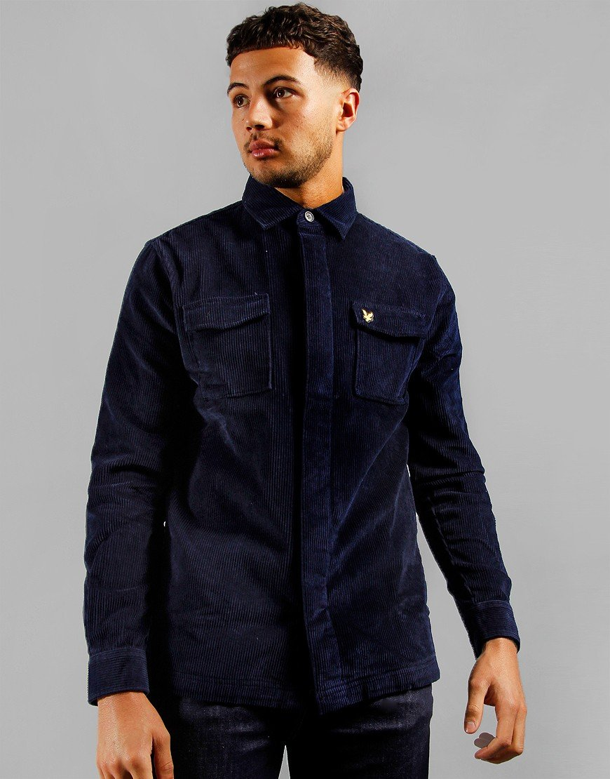 Lyle & Scott Cord Overshirt Navy
