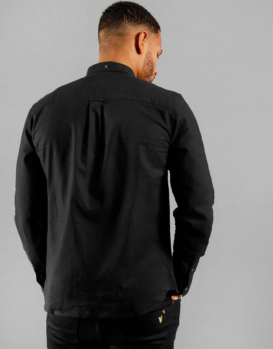 Lyle & Scott Cotton Linen Shirt Jet Black