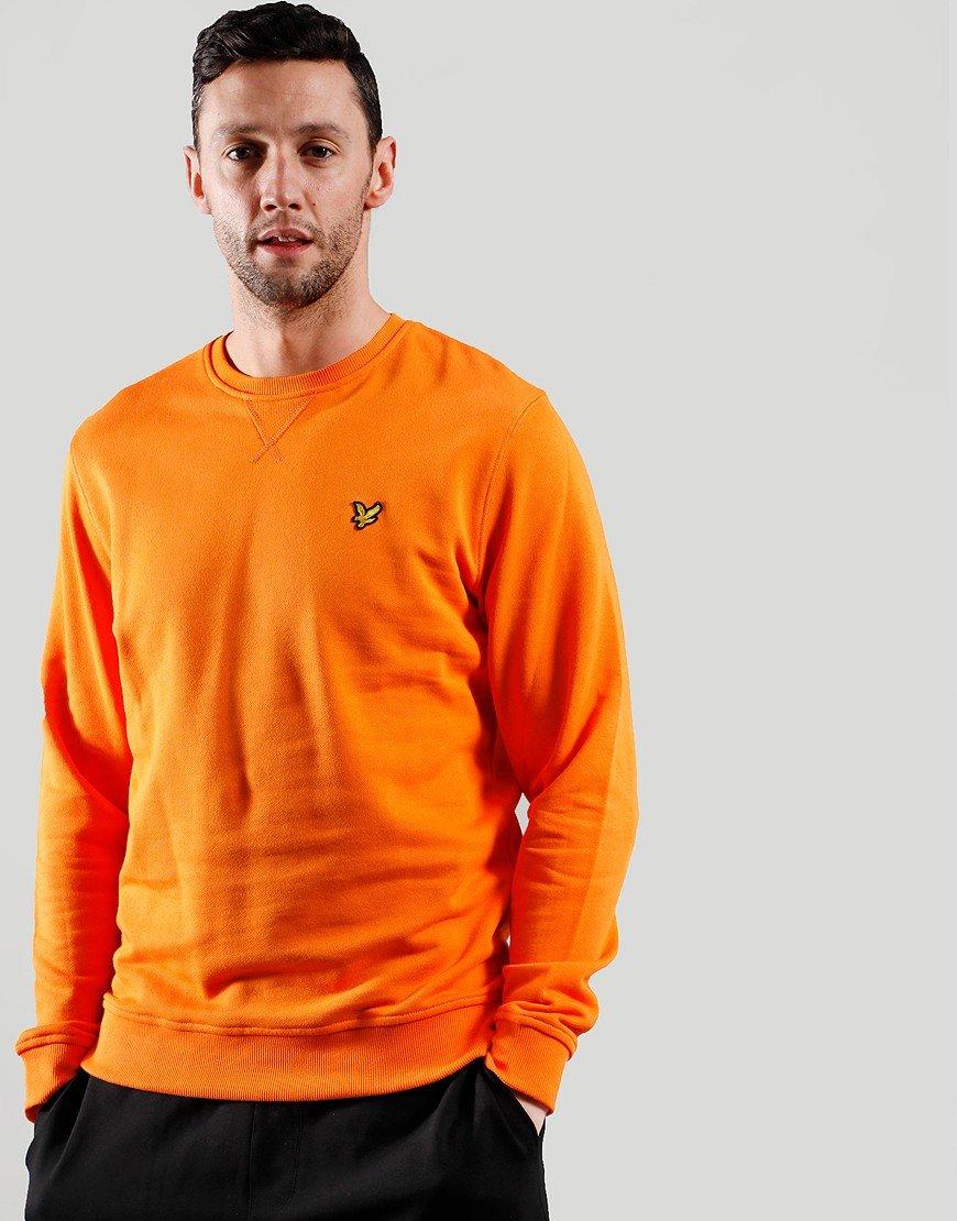 Lyle & Scott Crew Sweat Risk Orange