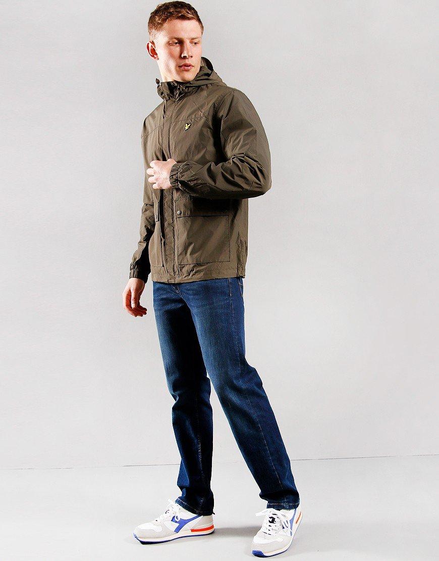 Lyle & Scott Hooded Pocket Jacket Trek Green