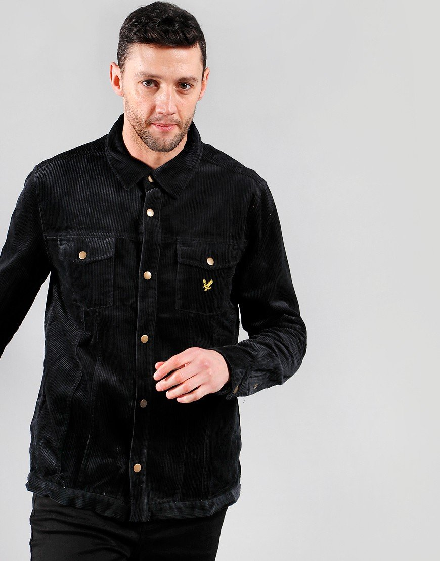 Lyle & Scott Jumbo Cord Overshirt True Black
