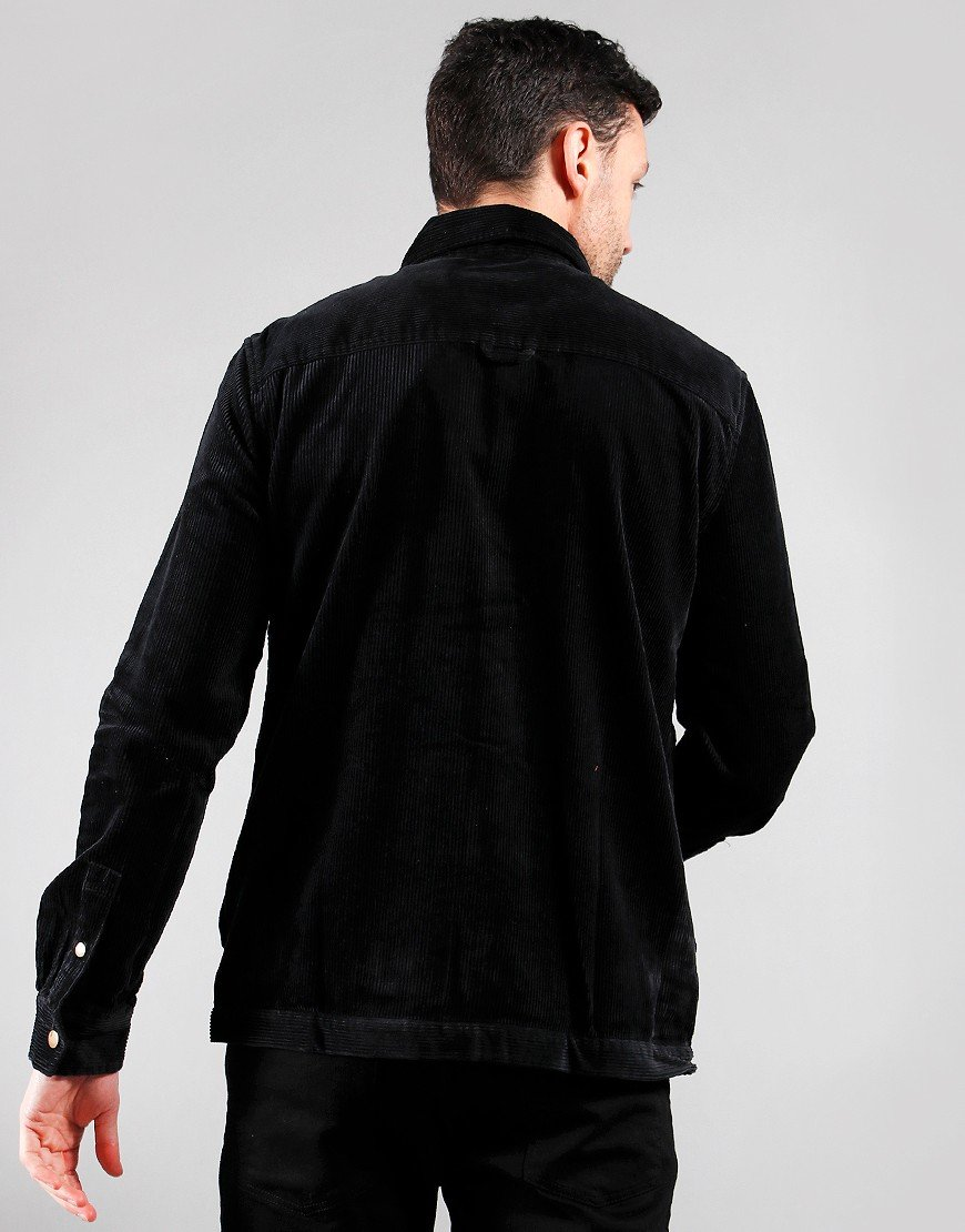 Lyle & Scott Jumbo Cord Overshirt True Black