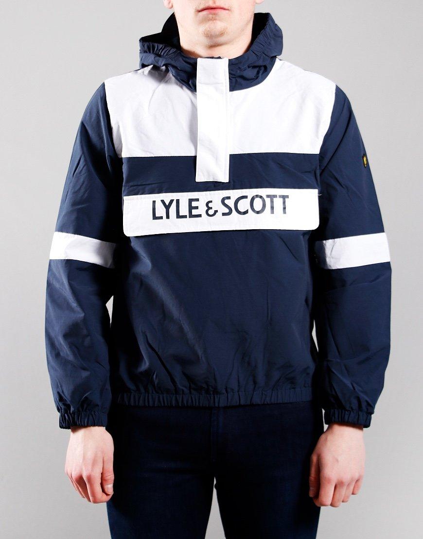 Lyle & Scott Junior Overhead Wind Jacket Navy Blazer