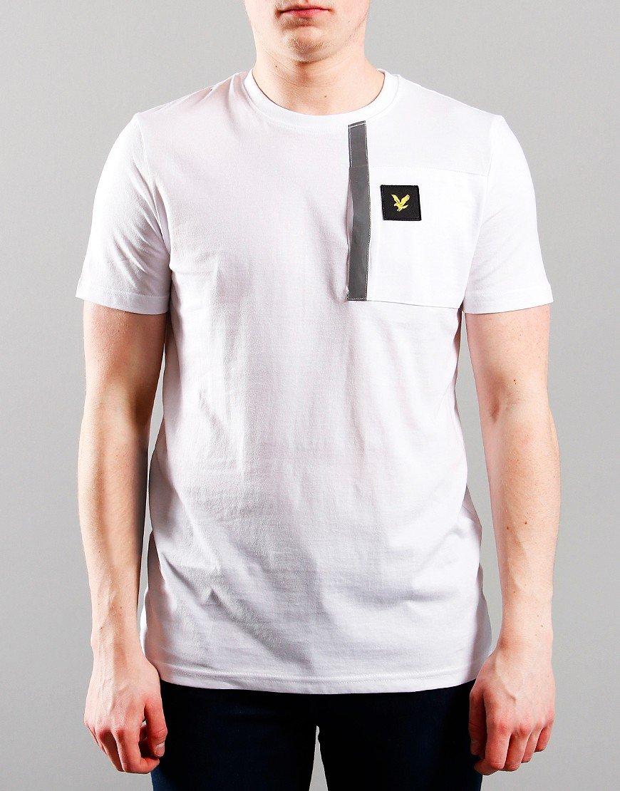 Lyle & Scott Junior Reflective Detail T-Shirt Bright White