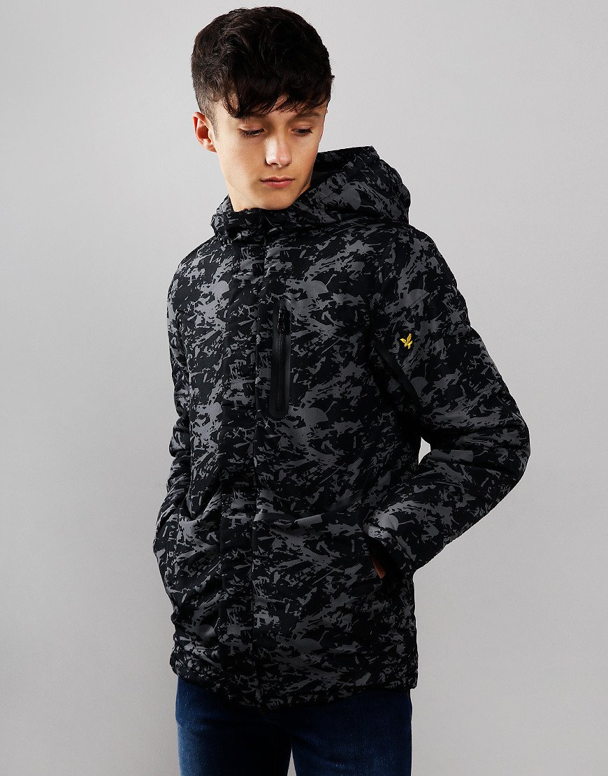 Lyle & Scott Junior All Over Print Jacket Black