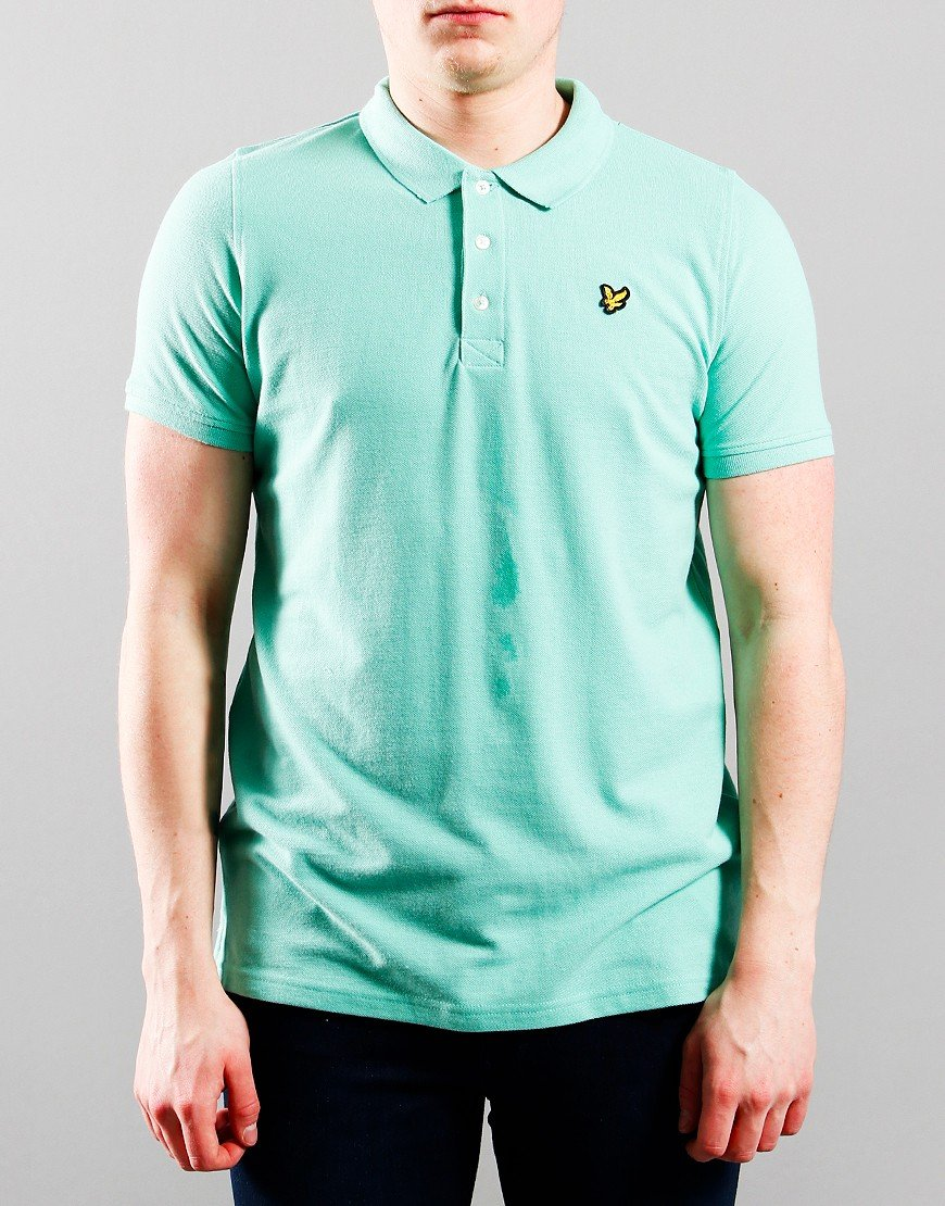 Lyle & Scott Junior Classic Polo Shirt Neptune Green