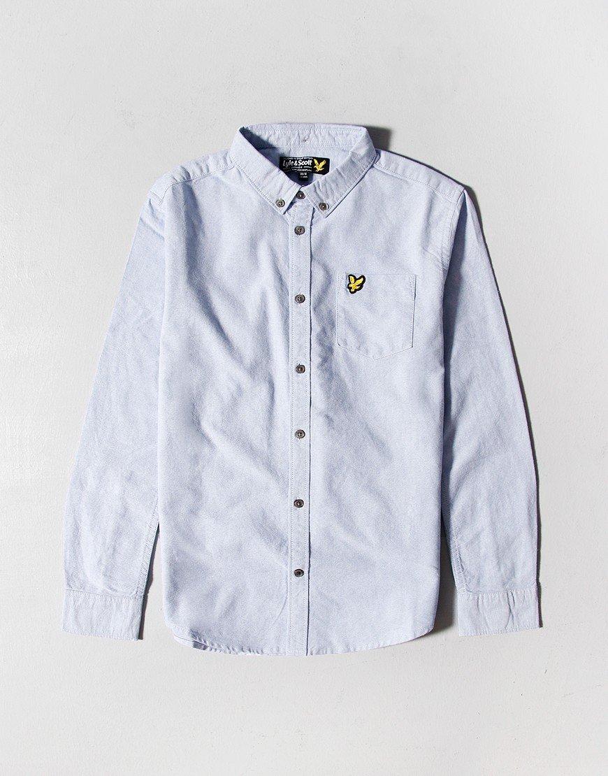Lyle & Scott Junior Long Sleeve Oxford Shirt Sky Blue