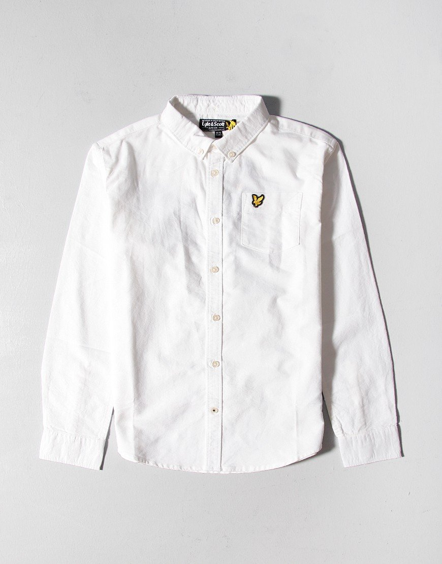 Lyle & Scott Long Sleeve Oxford shirt  Bright White