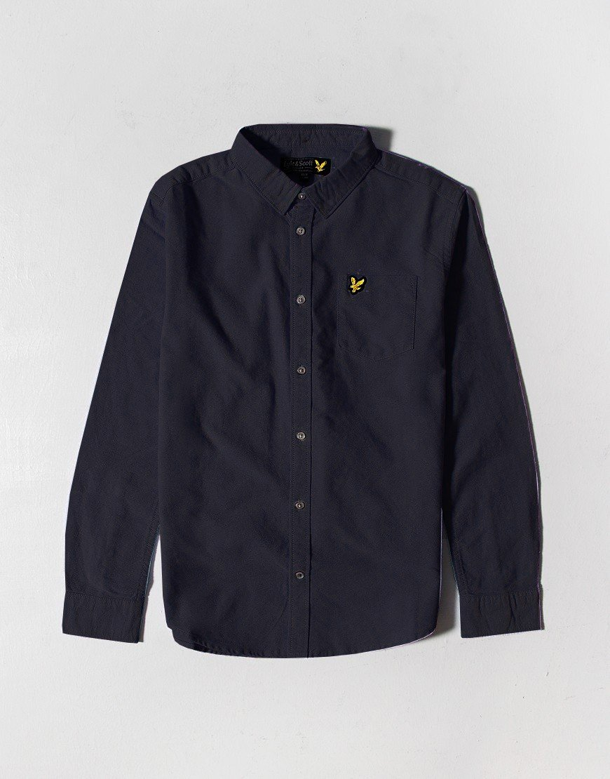 Lyle & Scott Junior Long Sleeve Oxford Shirt Navy