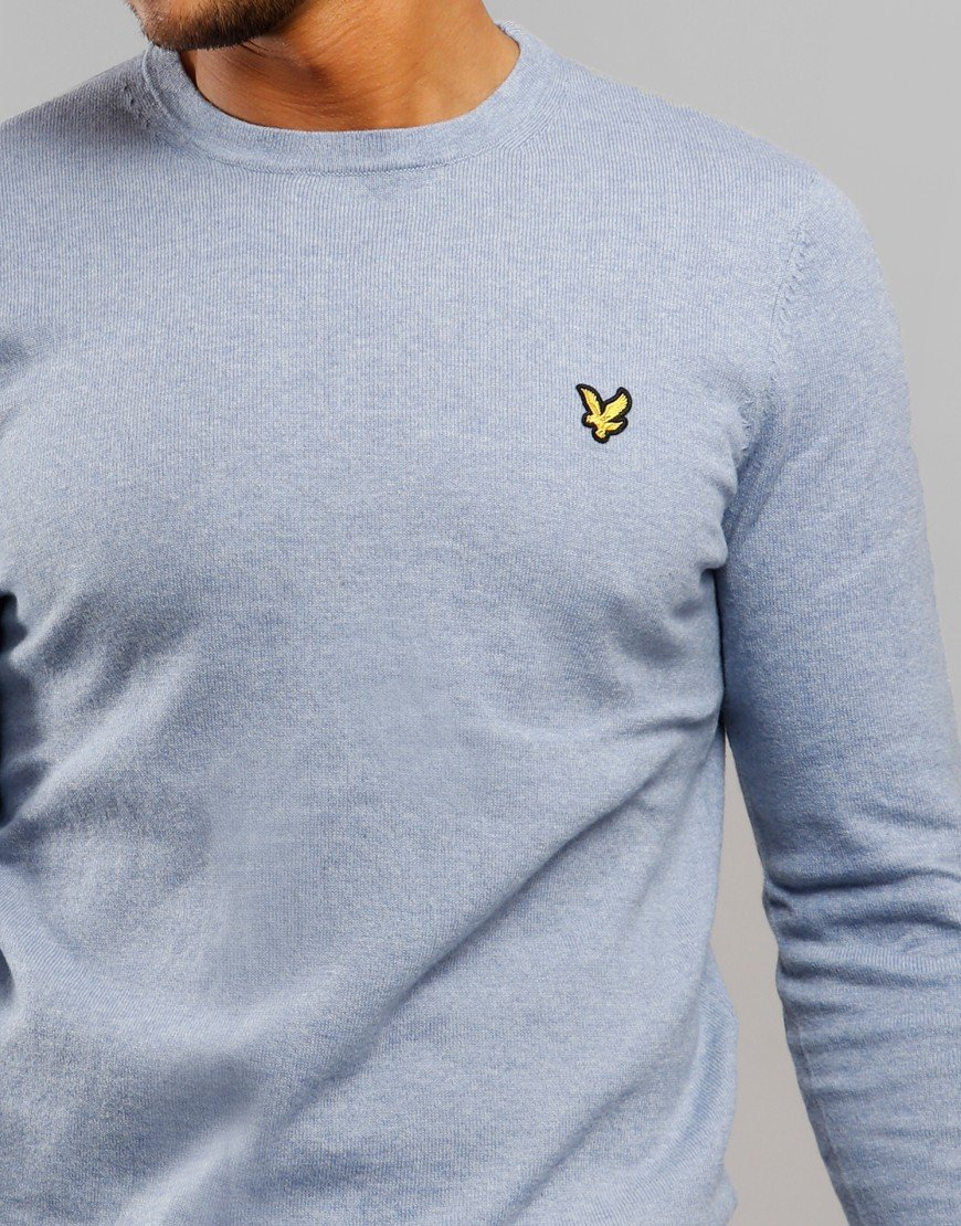 Lyle & Scott Merino Crew Light Silver Marl