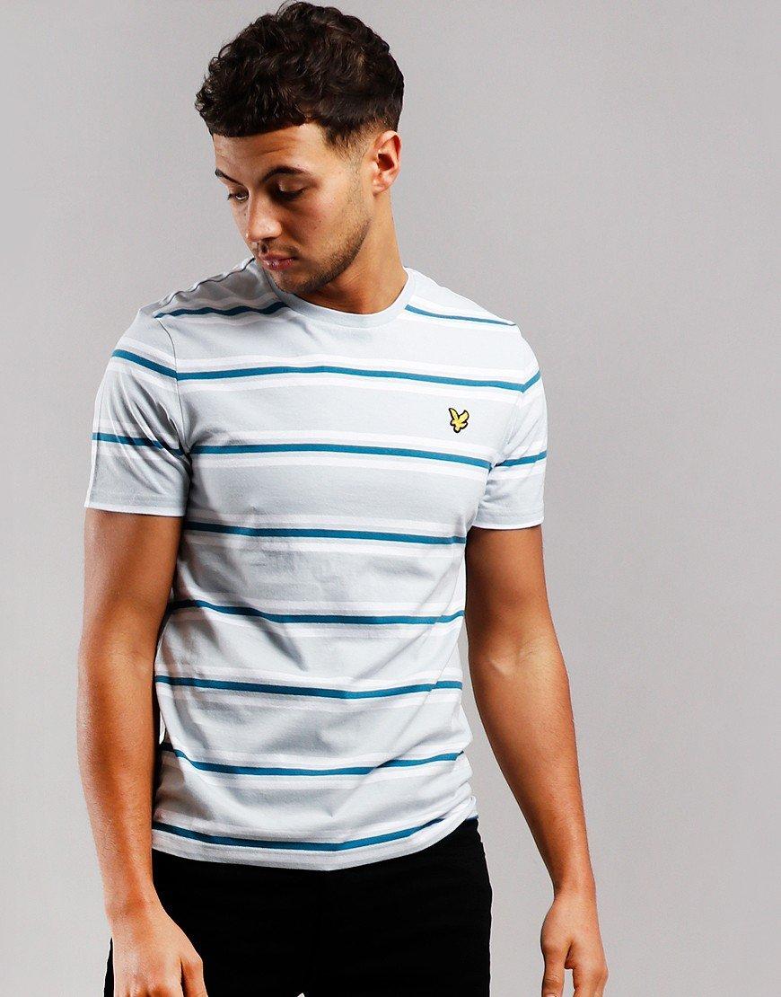 Lyle & Scott Multi Stripe T-Shirt Light Silver