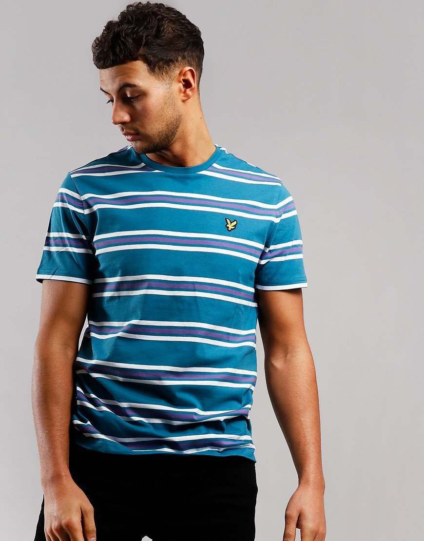 Lyle & Scott Multi Stripe T-Shirt Petrol/Teal