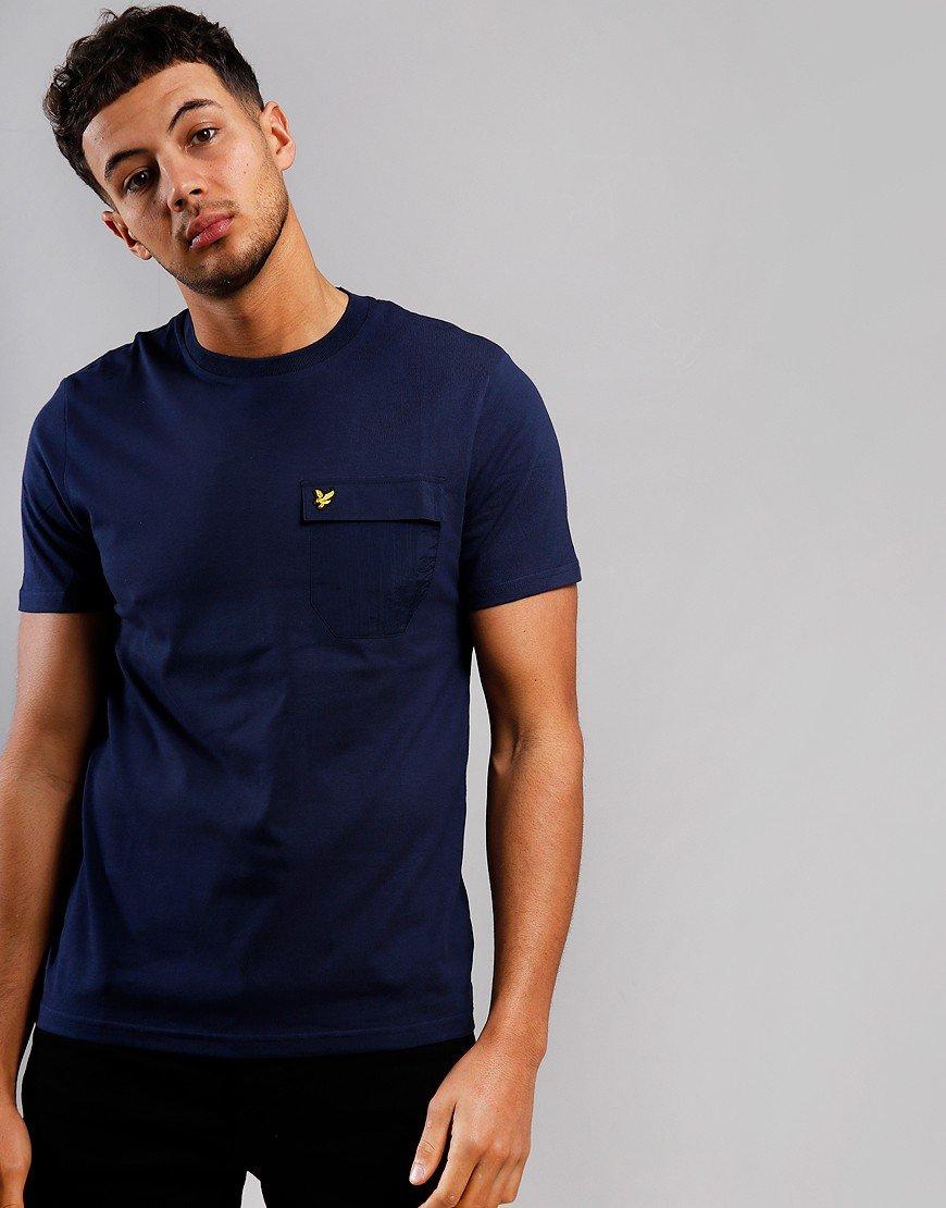Lyle & Scott Nylon Pocket T-Shirt Navy