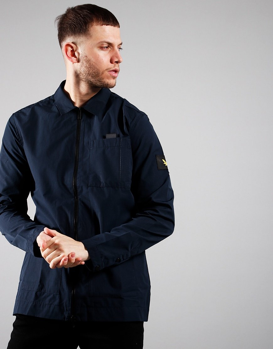 Lyle & Scott Nylon Ripstop Overshirt Dark Navy