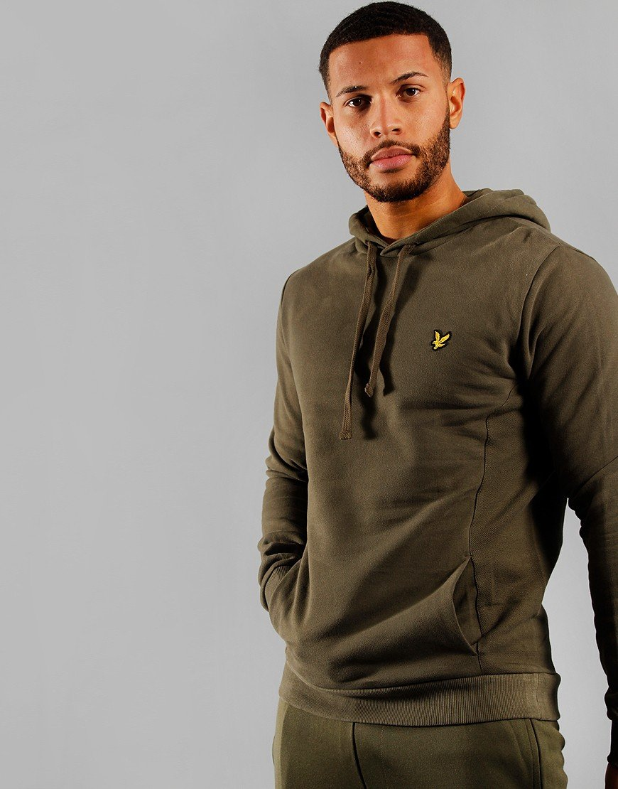 Lyle & Scott Panelled Hoodie Olive