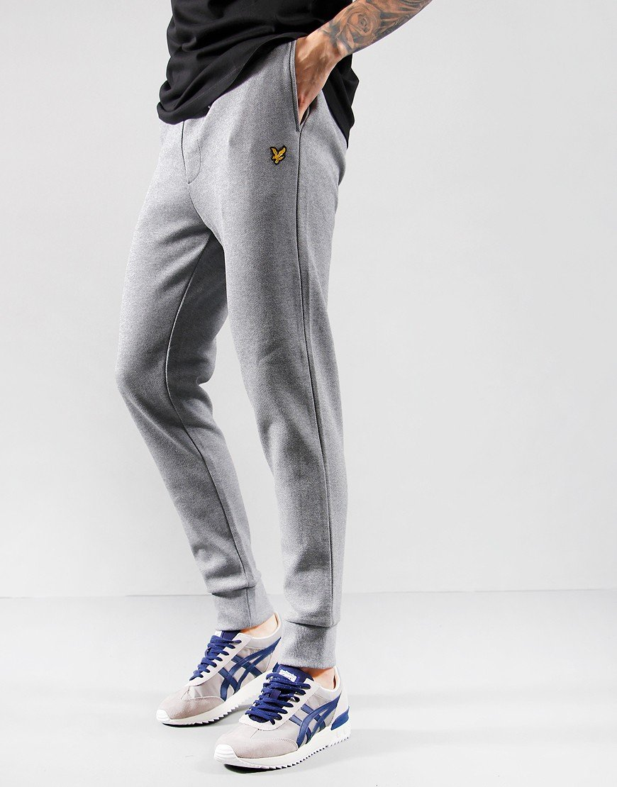 Lyle & Scott Pique Track Pants Mid Grey Marl
