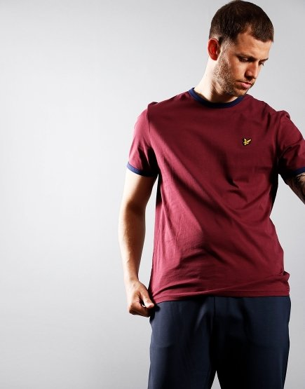 Lyle & Scott Ringer T-Shirt Merlot