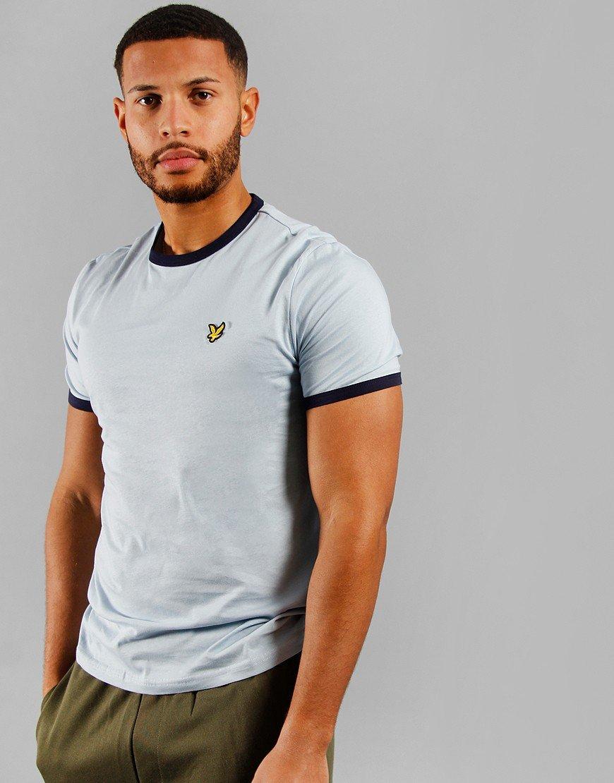Lyle & Scott Ringer T-Shirt Blue Dust/Navy
